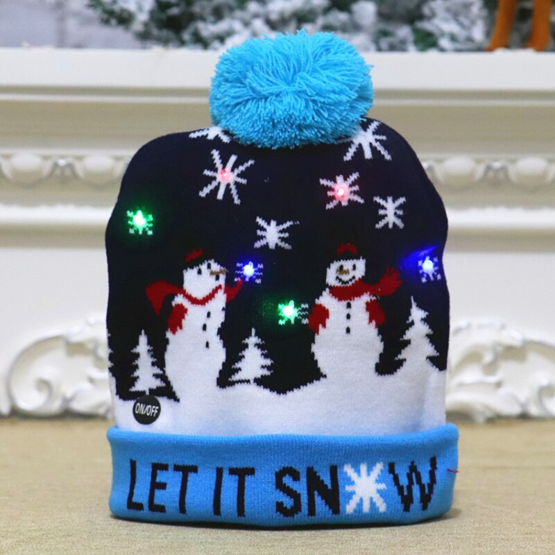 New Year LED Knitted Christmas Hat
