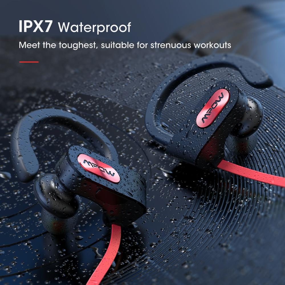 Mpow IPX7 Waterproof Bluetooth 5.0 Silicone Earphone