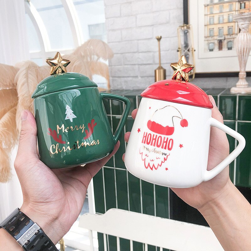 Christmas ceramic cup