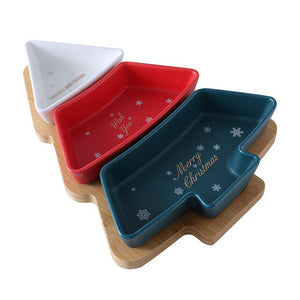 Open image in slideshow, Creative mixed color ceramic snack plate