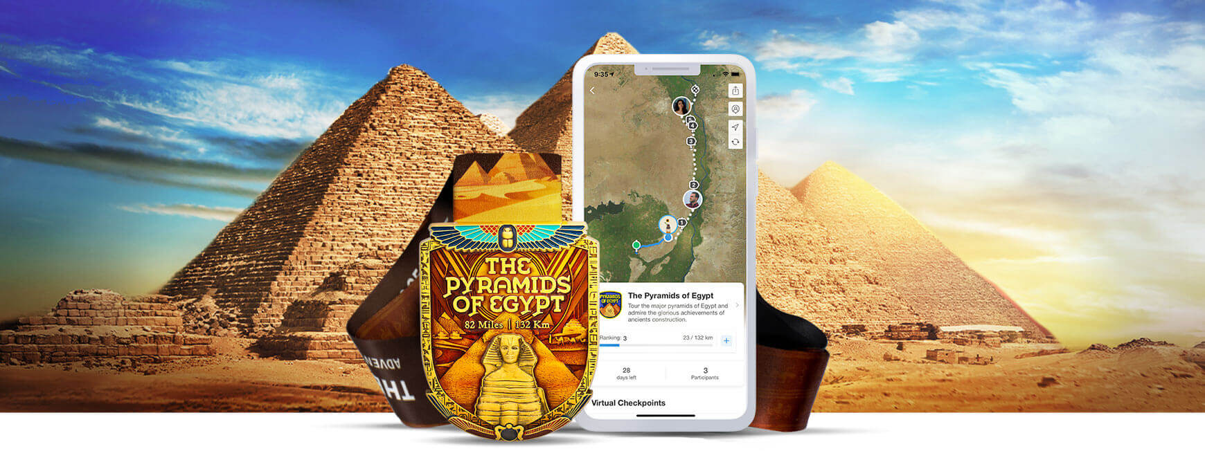 Pyramids of Egypt Virtual Challenge