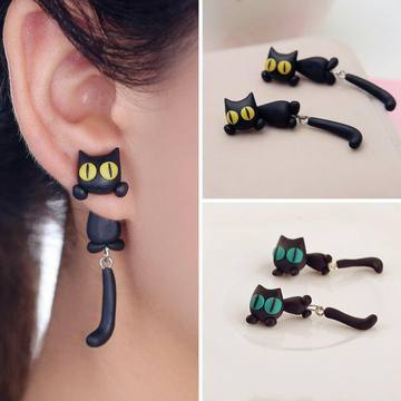 Cute Cat Earrings (5970181128372)