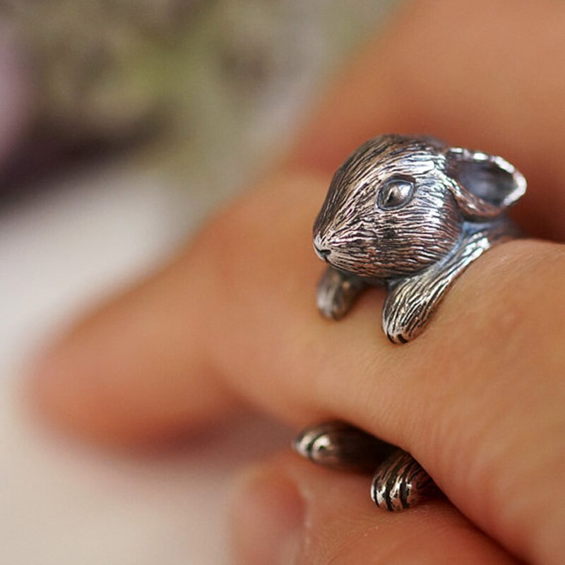 Vintage Rabbit Wrap Ring (5946615169204)