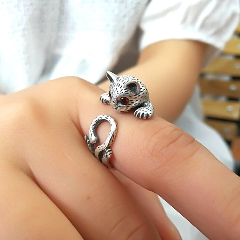 Lovely Cat Ring (5935939911860)