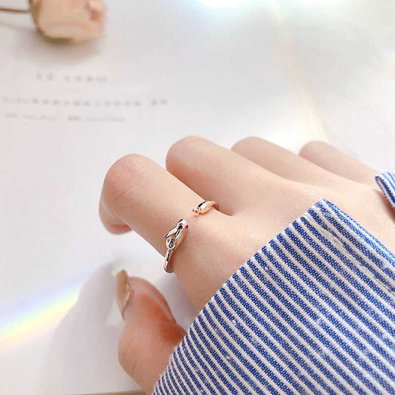 Sweet Cute Carrot Rabbit Opening Ring For Women Creative Exquisite Wedding Ring Accessories Fashion Party Jewelry Girl Gifts (5946616610996)