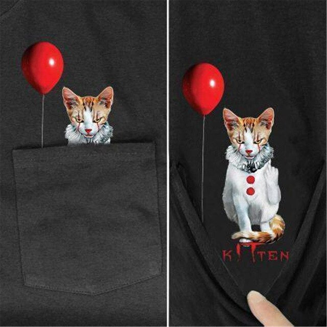Cat Unisex Pocket Shirt (5923383378100)
