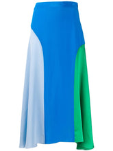 Load image into Gallery viewer, CHINTI & PARKER BLUE MIDI SKIRT