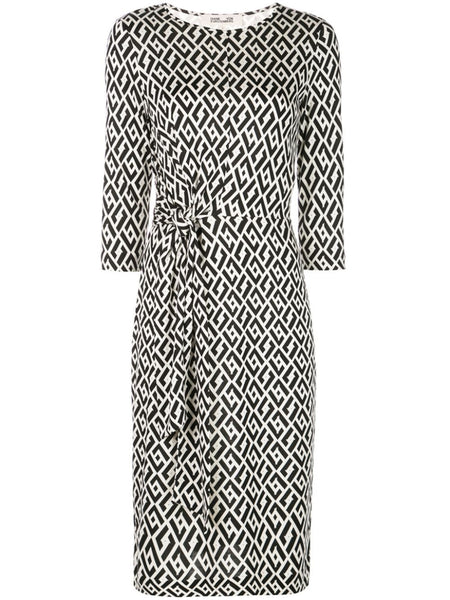 Diane von Furstenberg Diamond Print Dress