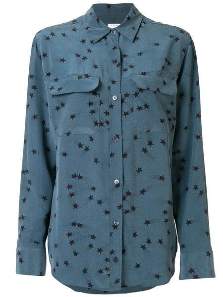 Equipment Star Print Silk Shirt