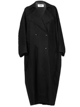Load image into Gallery viewer, Grifoni Oversized Trench Coat Black