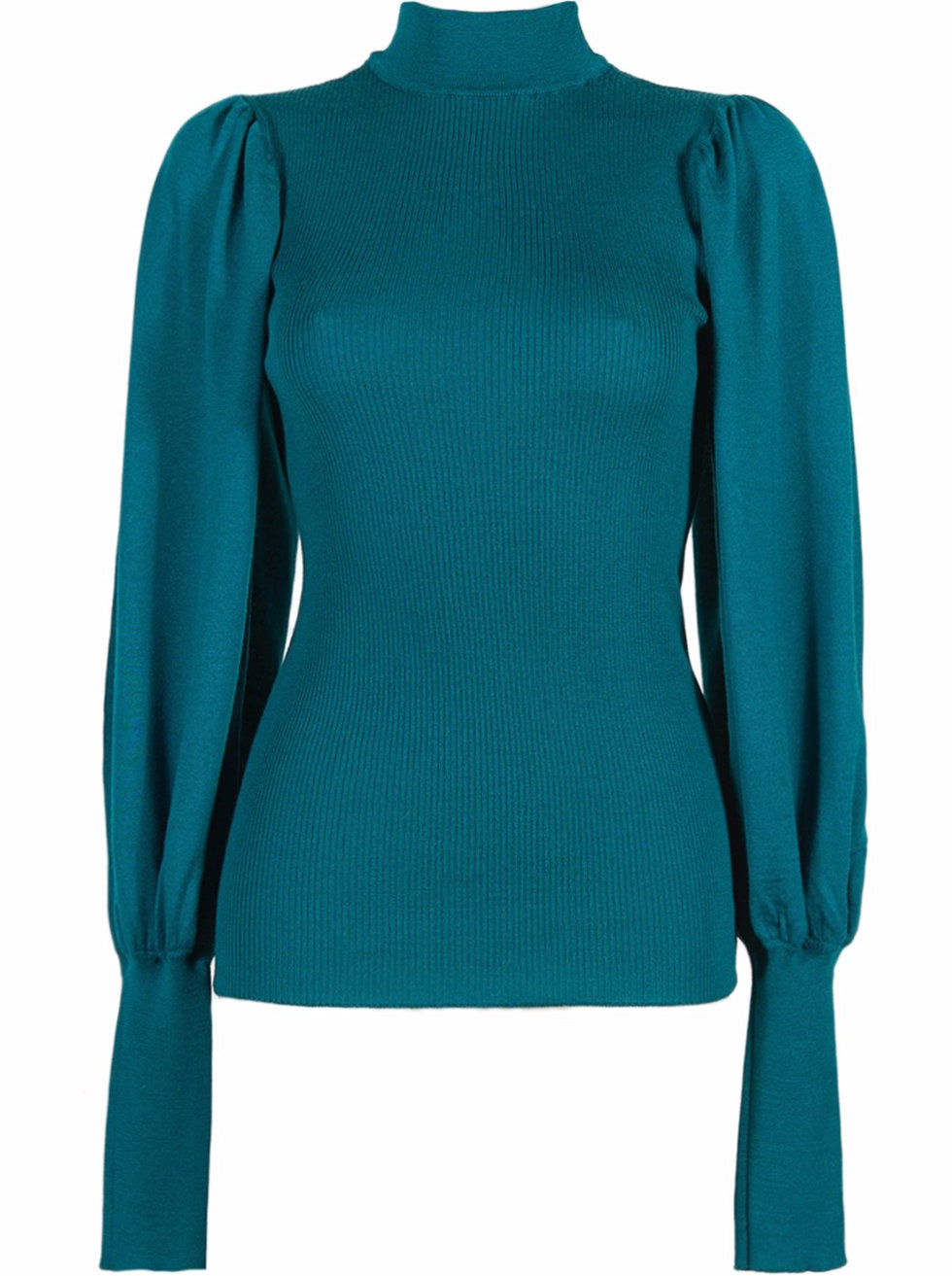 Grifoni Lupetto Puff Sleeve Jumper Emerald