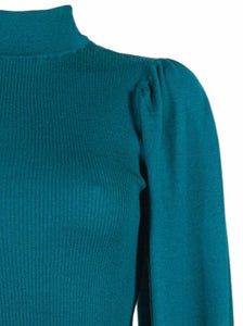 Lupetto Puff Sleeve Jumper Emerald