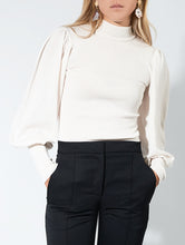 Load image into Gallery viewer, Grifoni Lupetto Puff Sleeve Jumper Ivory