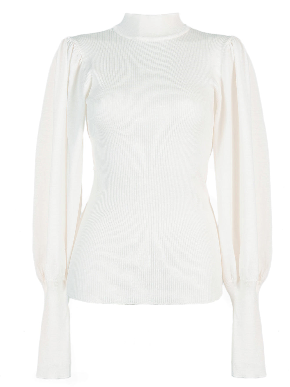 Grifoni Lupetto Puff Sleeve Jumper Ivory