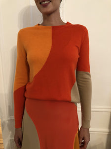 Colour-blocked Crew-Neck Pullover