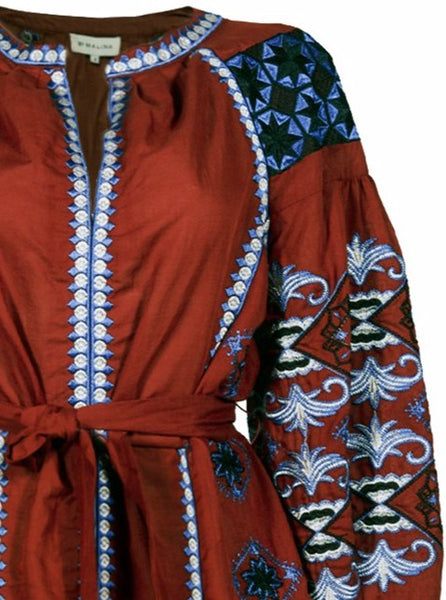 Nancy Embroidered Kaftan Dress