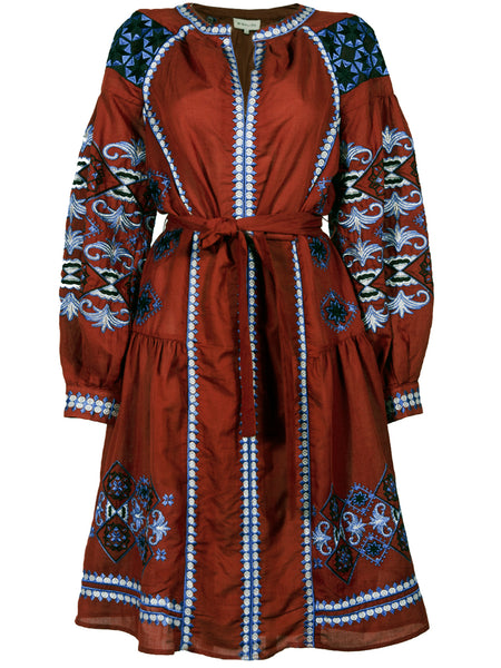 BY MALINA Nancy Embroidered Kaftan Dress