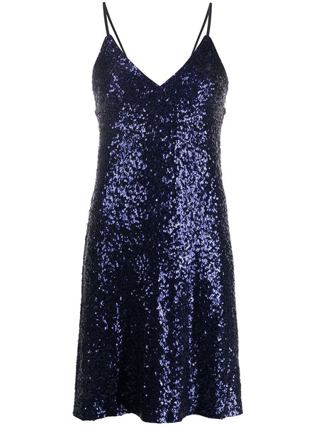 NORMA KAMALI SEQUIN SLIP DRESS