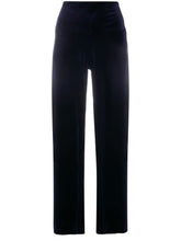 Load image into Gallery viewer, Norma Kamali Midnight Wide Leg Pant Velvet
