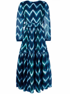 Samantha sung Anna Belted Midi Dress Zigzag