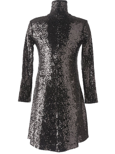 Norma Kamali Norma Kamali Sequin Swing Dress Black