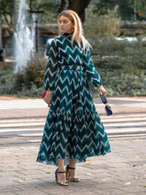 Load image into Gallery viewer, Samantha sung Anna Belted Midi Dress Zigzag