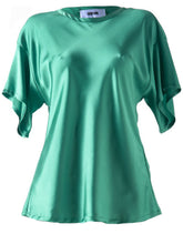 Load image into Gallery viewer, Grifoni Silk Stretch T-Shirt Green