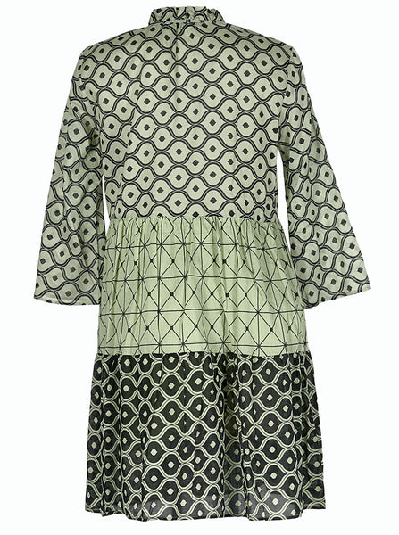 milly dress printed green