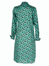 Load image into Gallery viewer, Delphine Shirt Dress Boat Green