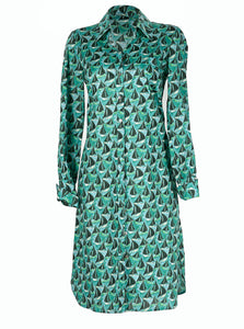 Delphine Shirt Dress Boat Green