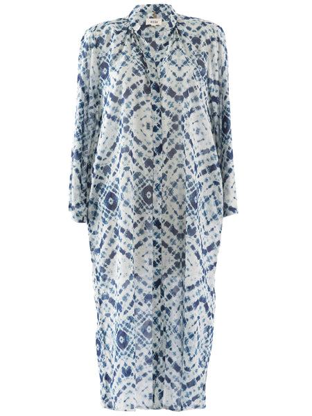 Roela Ikat Print Tunic Dress