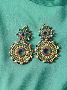 Earrings African Delight Apple Green