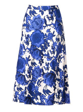 Load image into Gallery viewer, Beverly Skirt Willow Patterns Blue
