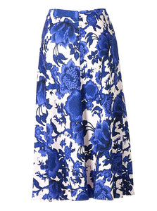 Beverly Skirt Willow Patterns Blue