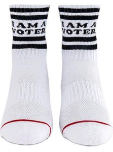 """I Am A Voter"" Socks"