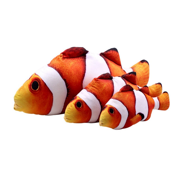Hot Pet Cat Puppy Sleeping Cushion Fun Toy Gadget Stuffed Pillow Soft Stuff Toys Funny Artificial Crucian carp with pillow Plush