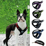 Hoomall 1PC Breathable Mesh Chest Dog Harness Leashes Set Nylon Outdoor Adjustable Harness For Small Medium Dog Pet Accessories