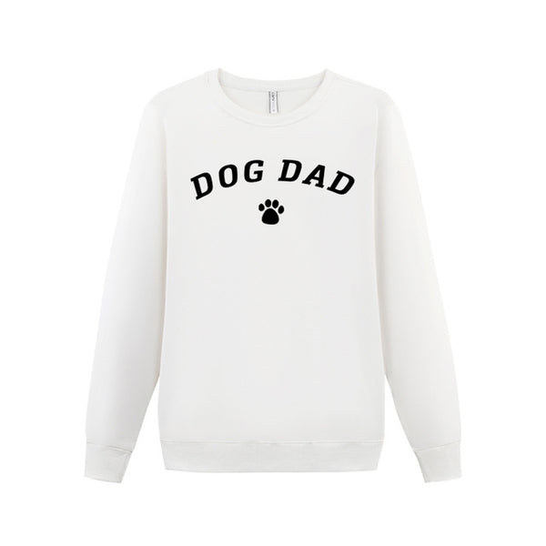100% Cotton Autumn Long Sleeve Man Letter Hoodies DOG DAD Streetwear Graphic Sweatshirt Dog Shirt Pullovers Poleron Man Clothes