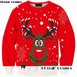 PLstar Cosmos funny 3D Christmas Dog Fashion Women men Sweatshirts O-Neck Thin Clothes Loose Casual Pullovers drop shipping