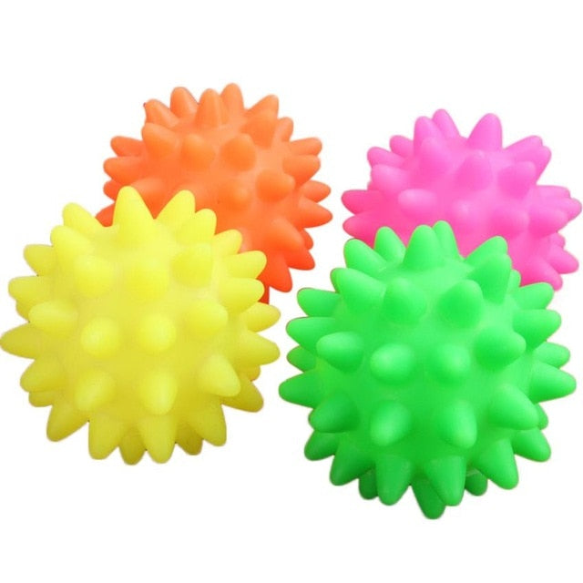 1pc Beautiful New Rubber Ball Toy Dog Pet Fun Squeak Ball Biting Chewing Toys Drop Shipping Happy Sale #15