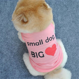 Happy home Dog Clothing Pet Vest Small Puppy Summer Unisex Fashion Cute Printed Cotton Shirt for Walking and Jogging
