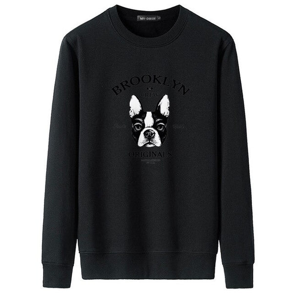 New Funny Animal Dog Print Sweatshirt Hoodies Men Women Hip Hop Autumn Streetwear Hoodie O Neck Sweatshirt for Couples Clothes