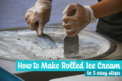 How to Make Rolled Ice Cream in 5 Easy Steps