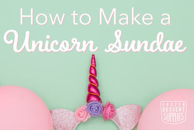 How to Make a Unicorn Sundae