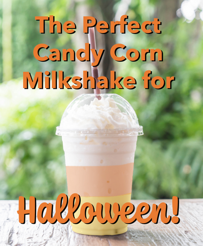 The Perfect Candy Corn Milkshake for Halloween!