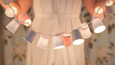 Cup Lights, Decorating Your Ice Cream Shop for Valentine's Day