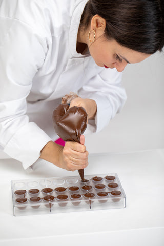 Filling Chocolate Molds, How to Make Hot Chocolate Bombs