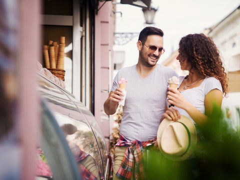 Couple with Ice Cream, How to Increase Employee Retention in Your Ice Cream Shop