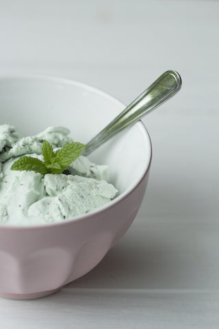 Mint Chocolate Chip Ice Cream in White Bowl, America's Top 10 Favorite Ice Cream Flavors and the Best Toppings to Go With Them