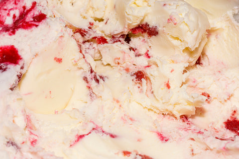 Strawberry Swirl Ice Cream, How to Add Ribbons to Your Hard Scoop Ice Cream